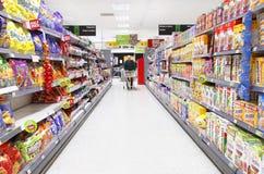 Het winkelen van het voedsel Stock Afbeeldingen