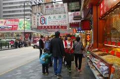 Het winkelen van Hongkong straat Stock Foto's