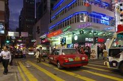 Het winkelen van Hongkong straat Stock Afbeeldingen