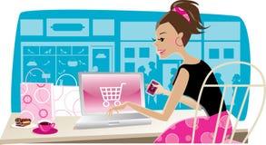 Het winkelen van Internet Stock Afbeelding