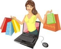 Het winkelen van Internet Royalty-vrije Stock Afbeeldingen