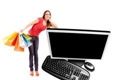 Het winkelen van Internet Stock Afbeeldingen