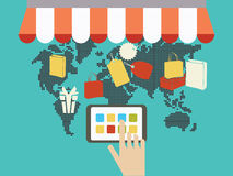 Het winkelen van Internet concept Royalty-vrije Stock Foto