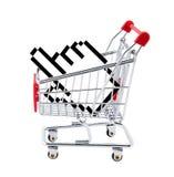 Het winkelen van Internet. Knippend inbegrepen weg. Stock Afbeeldingen