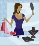 Het Winkelen van juwelen royalty-vrije stock afbeeldingen