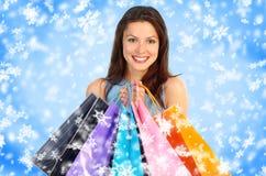 Het winkelen van Kerstmis Stock Fotografie