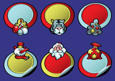 Het Winkelen van Kerstmis Etiketten vector illustratie