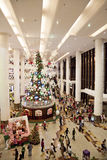 Het Winkelen van Kerstmis Menigte Royalty-vrije Stock Foto's