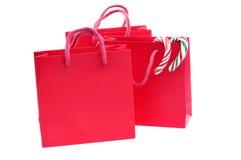 Het winkelen van Kerstmis zakken Stock Afbeeldingen