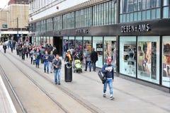 Het winkelen van Manchester Stock Fotografie