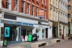 Het winkelen van Manchester Stock Afbeeldingen