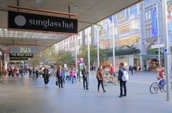 Het winkelen van Melbourne straat Australië Stock Foto's