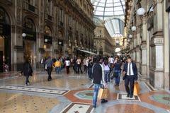 Het winkelen van Milaan stock afbeelding