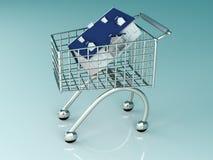 Het Winkelen van onroerende goederen vector illustratie