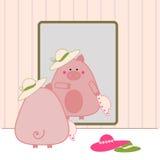 Het winkelen van Piggy Royalty-vrije Stock Fotografie