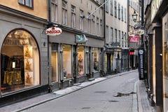 Het winkelen van Stockholm Stock Afbeeldingen