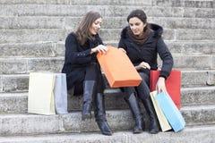 Het winkelen van vrouwen Royalty-vrije Stock Foto's