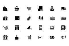 Het winkelen Vectorpictogrammen 1 Stock Foto's