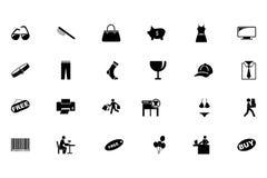 Het winkelen Vectorpictogrammen 3 Royalty-vrije Stock Foto's