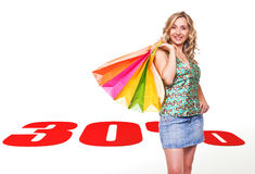Het winkelen verkoop Stock Foto
