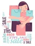 Het winkelen verkoop vector illustratie