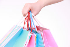 Het winkelen verslaving royalty-vrije stock afbeeldingen