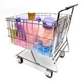 Het winkelen voor de Producten van de Schoonheid Stock Foto