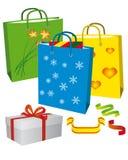 Het winkelen voor een familievakantie vector illustratie