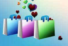 Het winkelen voor liefde Royalty-vrije Stock Afbeeldingen