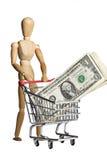 Het winkelen voor rijkdom Royalty-vrije Stock Afbeelding