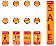 Het winkelen voorwerpen - (controleer mijn portefeuille gelijkaardige pictogrammen!) royalty-vrije stock fotografie