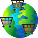Het winkelen wereld stock illustratie