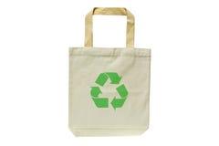Het winkelen zak die uit gerecycleerde materialen wordt gemaakt Royalty-vrije Stock Afbeeldingen