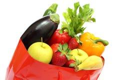 Het winkelen zak met groenten Royalty-vrije Stock Afbeeldingen