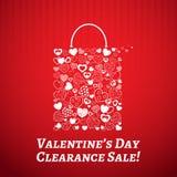Het winkelen zak voor Valentijnskaartendag Royalty-vrije Stock Afbeelding