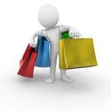 Het winkelen zakken Royalty-vrije Stock Foto's