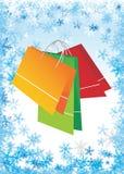 Het winkelen zakken Stock Foto