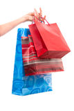 Het winkelen zakken stock foto's