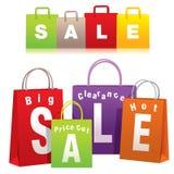 Het winkelen zakken royalty-vrije illustratie