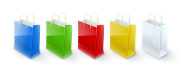 Het winkelen zakkendocument verpakking voor goederen Royalty-vrije Stock Foto