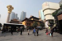 Het winkelende centrum van het stadsplein in Shanghai Royalty-vrije Stock Foto's