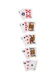 Het winnen Combinaties in Blackjack Royalty-vrije Stock Foto's