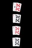 Het winnen Combinaties op zwarte Royalty-vrije Stock Afbeelding