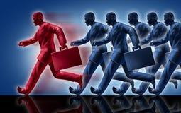 Het winnen de leidersleiding van de succesconcurrentie vector illustratie