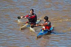 Het winnen sprint Berg River Canoe Marathon 2018 royalty-vrije stock foto's
