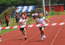 Het winnen van de race Stock Foto's