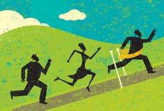 Het winnen van de race stock illustratie