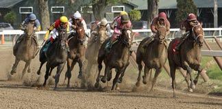 Het winnen van Zijn Eerste Race Stock Foto's