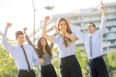 Het Winnende Commerciële Team Royalty-vrije Stock Foto