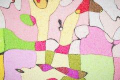 Het wiskundige patroon van de ornamentgrafiek Stock Foto's